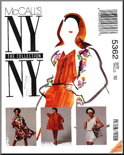 pattern emporium trapeze mccall s sewing pattern 5362 sz 10 misses ny collection