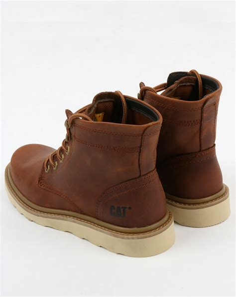 Carterpillar Leather Boots caterpillar chronicle leather boots brown rugged durable shoes