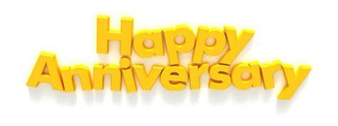 Happy Anniversary In Capital Letter Magnets Stock Photo