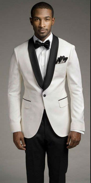 Top sales new white coat and black satin lapels the groom