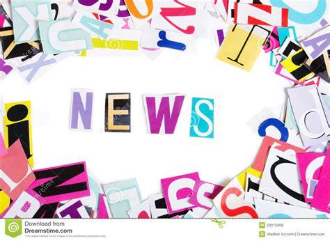 5 Letter Words Newest word news from newspaper letters royalty free stock images