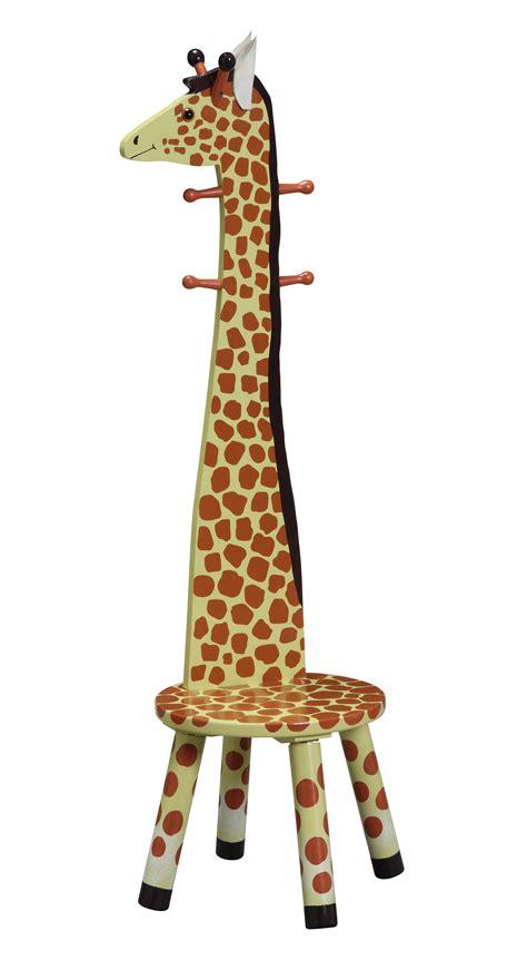 children s animal stool w coat rack giraffe baby n toddler