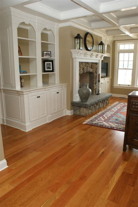 cherry flooring with white trim other decorating ideas