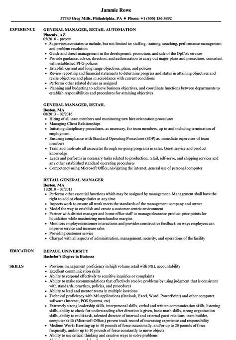 general manager sle resume general manager resume sles banana republic sales