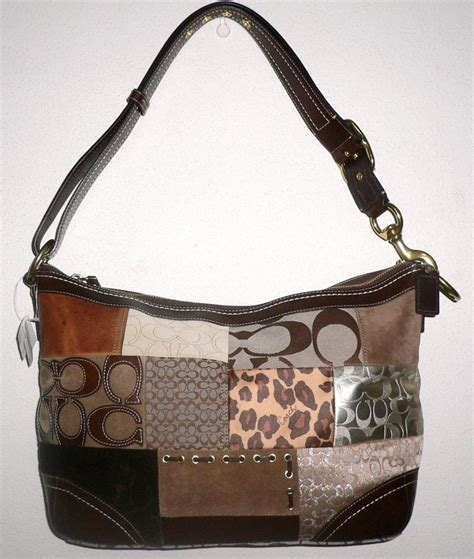 Patchwork Coach Purse - coach patchwork duffle bag tote purse 12842 sale