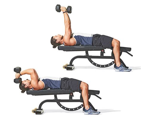 tricep bench press dumbbell best tricep workout with dumbbells eoua blog