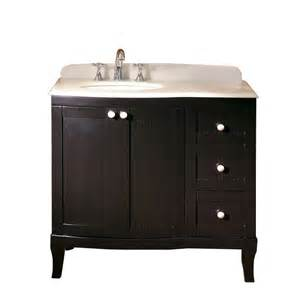 Vanity Tops 37 X 23 Shop Ove Decors Belinda Espresso Undermount Single Sink