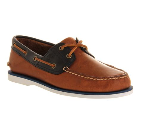 boat shoes office timberland exclusive boat shoes tan navy leather casual