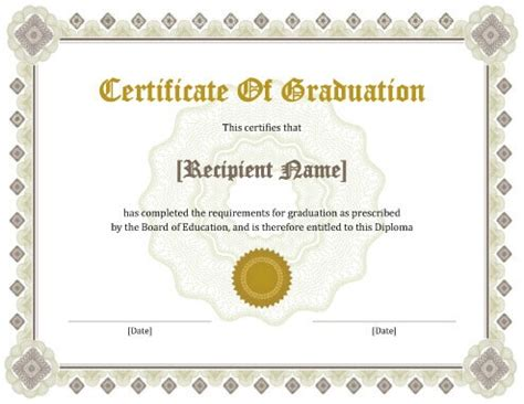 certification letter for graduation 124 free printable diy certificate templates