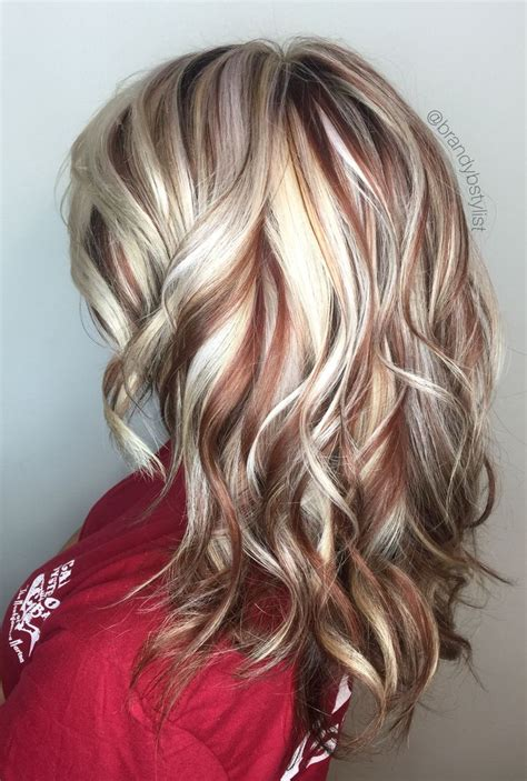blonde hair with copper lowlights terrifictresses com loves to display radiant hair color as