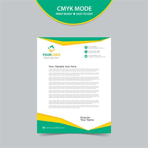 free download stationary layout design vector free vector letterhead template print ready wisxi com