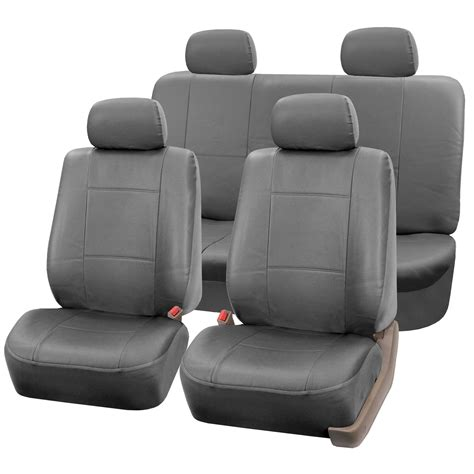 seat covers for leather seats pu leather seat set covers for seats with headrests ebay