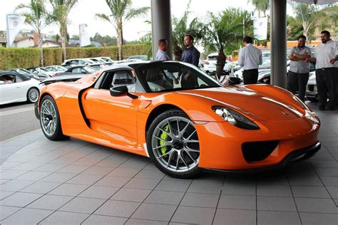 custom porsche 918 tuningcars orange porsche 918 spyder