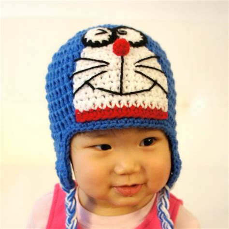 Hat Dng doraemon hat ding dong crochet baby hat baby hat animal