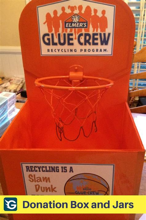How To Make A Donation Box Out Of Paper - basketball style donation box donationbox fundraising