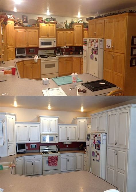 how to paint brown cabinets white snow white and van brown kitchen cabinets general