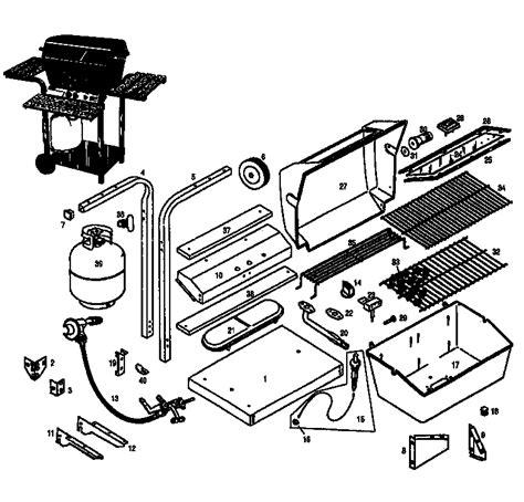 gas grill parts diagram kenmore outdoor gas grill parts model 920104921 sears