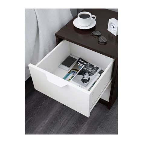 ASKVOLL Chest of 2 drawers ? black/white ? babydragon.co.nz