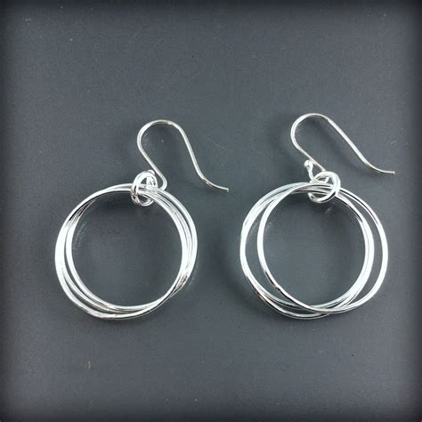 Handmade Sterling Silver Hoop Earrings - handmade sterling silver small hoop earrings