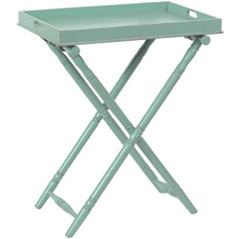 Folding Tray Table Ikea Butler Style Folding Tray Table Turquoise 36 Quot H Polyvore