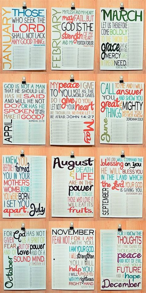 scripture month display birthdays