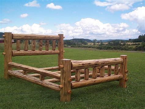 how to make a log bed log beds bunkbeds