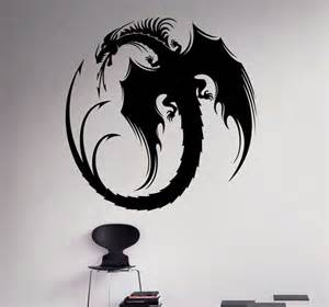 Gothic Wall Stickers Dragon Vinyl Decal Monster Wall Sticker Gothic Home Interior