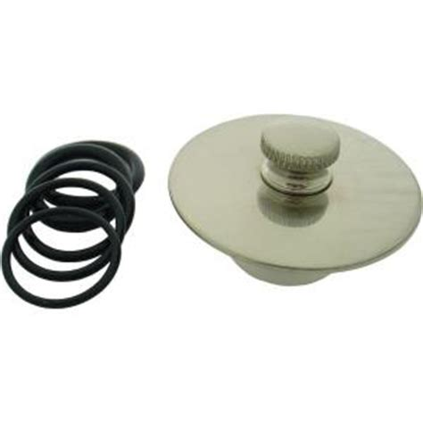 partsmasterpro tub drain seal cover in brushed nickel