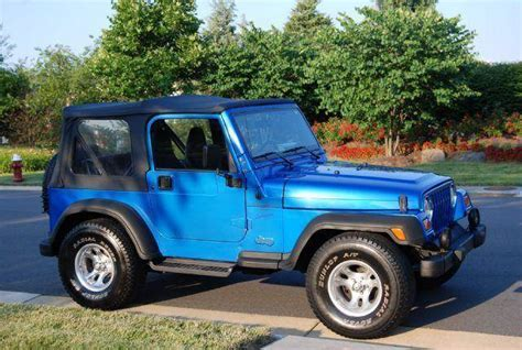 convertible jeep blue 1999 jeep wrangler sport 2dr 4wd convertible in chantilly