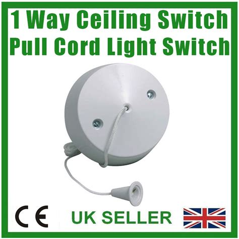 1 way ceiling switch pull cord light switch bathroom 6