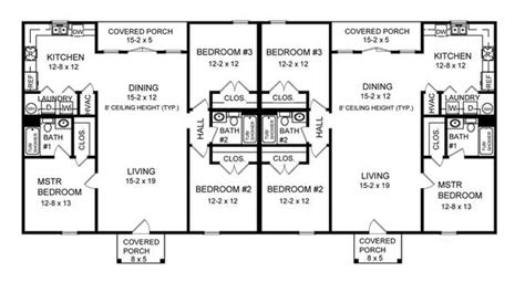 duplex plans 3 bedroom three bedroom duplex 7085 3 bedrooms and 2 5 baths the house designers