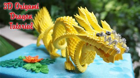 origami 3d dragon tutorial español 3d origami dragon tutorial c 243 mo hacer el drag 243 n chino