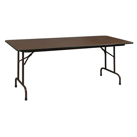 retractable table heavy duty used folding table 30 215 72 walnut national