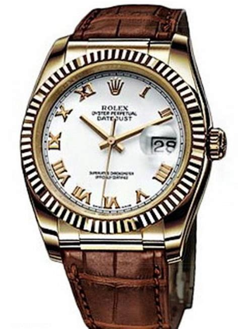 Rolex Rom rolex 116138 white rome datejust yellow gold