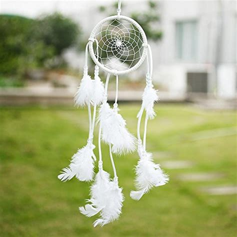 Handmade Dreams - soledi handmade catcher circular net with feathers