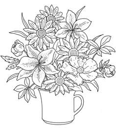 flowers coloring book 25 best ideas about flower coloring pages on
