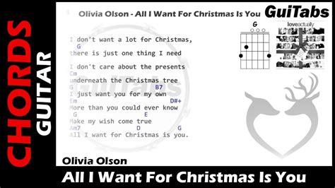 printable lyrics all i want for christmas is you all i want for christmas is you lyrics guitar chords