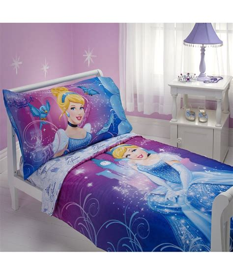 princess toddler bed set disney princess quot cinderella quot 4 piece toddler bedding set