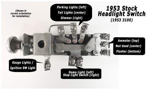1958 ford headlight switch wiring diagram circuit