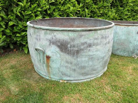 large antique copper planter s garden planter plant pot