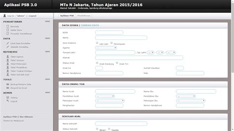 Website Portal Sekolah Penerimaan Siswa Baru 4 aplikasi pendaftaran siswa baru berbasis web