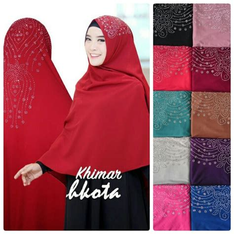 Khimar Syria Mahkota Jersey 0 syar i khimar mahkota model masa kini 2018 trend