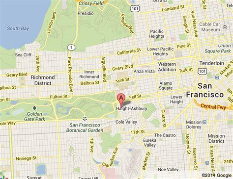 san francisco map haight ashbury san francisco map haight ashbury