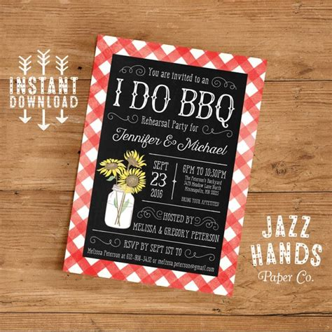 barbeque rehearsal dinner invitations rehearsal dinner invitation i do bbq invitation rehearsal