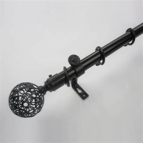 curtain rods black 19 inch black ball finial aluminum alloy material double