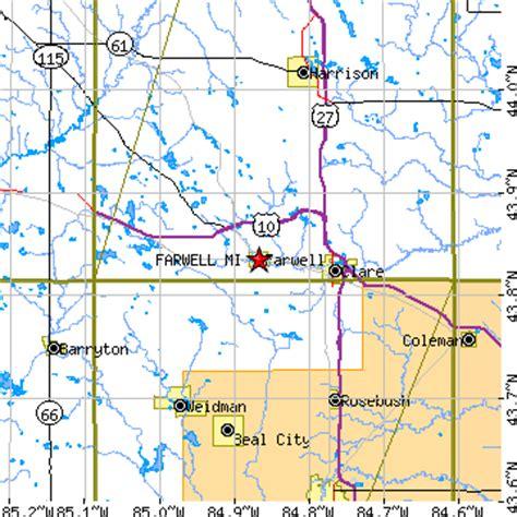us area code 855 farwell michigan mi population data races housing