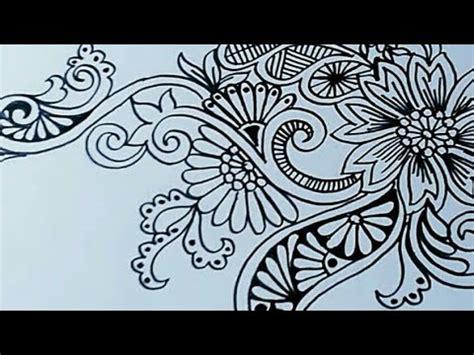 seni menggambar bunga ornamen youtube