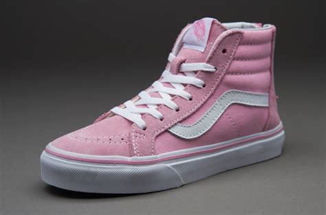 girls shoes vans sk  zip prism pink true white