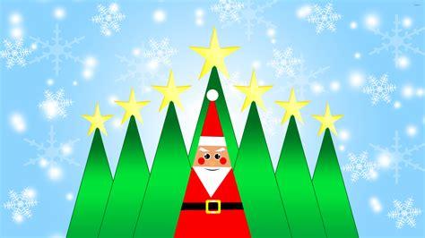 santa claus and the trees santa claus and trees wallpaper