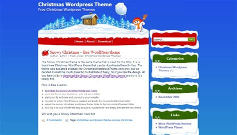 christmas themes wordpress 20 best free christmas wordpress themes the geeky globe